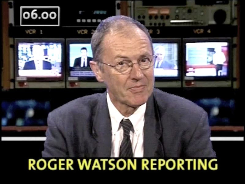 Roger Watson TV presenter